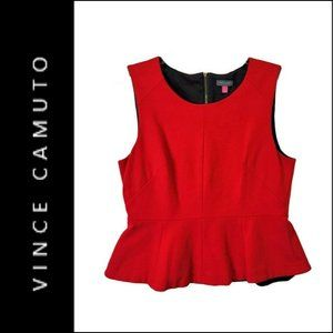 Vince Camuto Woman Sleeveless Stretch Blouse Red